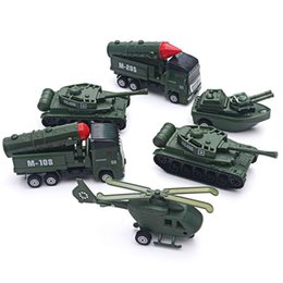 $enCountryForm.capitalKeyWord Australia - Diecast Pull Back Toy Vehicles Military Camouflage Tank Missile Vehicle Helicopter Set Kids Boy Gift