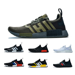 Light marbLe online shopping - 2019 NMD R1 Cheap atmos Bred Running Shoes Tri Color OG Classic Men Women Japan Triple Black white Red Marble Sports Trainer Sneakers