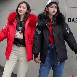 pink fur parka Australia - Parka Women's Long Down Winter Jacket women Casual Fur Collar Hooded Female Jacket Warm Thick Long Coat Women's Coat Plus Size V191029
