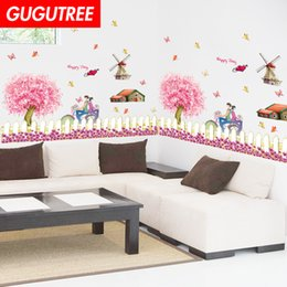 $enCountryForm.capitalKeyWord Australia - Decorate Home lovers flower cartoon art wall sticker decoration Decals mural painting Removable Decor Wallpaper G-2371