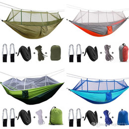 parachute cloth Australia - Convenient Mosquito Net Hammock 12 Colors 240*120cm Outdoor Parachute Cloth Field Camping Tent Garden Camping Swing Hanging Bed A013