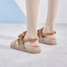 $enCountryForm.capitalKeyWord Australia - 2019 Summer Sheepskin Thick Bottom All-match Muffin Sandals Woman Flat Bottom Tide Student Leisure Time Women's Shoes Tide