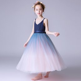 179fadf61be Girls dress children s princess dress 2019 new flower girl dress children s  piano performance clothes small host costumes