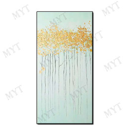 $enCountryForm.capitalKeyWord Australia - Beautiful picture light color gilding abstract wall art home decor Hand-painted Abstract Oil Painting on canvas for living room no framed