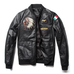 $enCountryForm.capitalKeyWord NZ - Spring Autumn New Classic Brand Men Bomber Pu Leather Jackets Indian Chief Embroidered Male Air Force Flight Jacket Coats