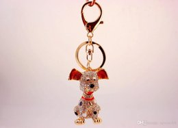 Crystals Souvenir Australia - Dalmatian Puppy Dog Keychain - Womens Bag Charm Fashionable Key Chain Holder Crystal Keyring - Unique Gift and Souvenir Wedding Favor