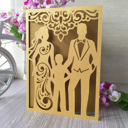 $enCountryForm.capitalKeyWord Australia - 20PCS Family With Hollow Laser Cut Wedding Invitation Card Grand Party Events Invitations Engagement Dinner Decoration Supplies