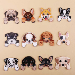 $enCountryForm.capitalKeyWord Australia - 1Pcs Dog Embroidery Patch Heat Transfers Iron On Sew On Patches for DIY Clothes T-shirt Cloth Sticker Decorative Appliques 47204
