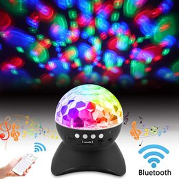 portable led stage lighting Australia - Hot Sale Colorful Stage Lights Bluetooth Speaker Party LED Colored Lights Wireless Speaker Stereo Portable Speakers TF Card USB Port Speaker