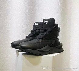 461e39da68fe1 NEW Y3 High Top Womens Mens Sneakers Triple Black White High Quality Boots  Trainers Running Shoes Designer Y-3 Genuine Leather Chaussures