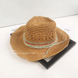 3b4de692 2019 new hot sale comfortable small fresh retro hat female summer sunscreen  jazz straw hat seaside holiday beach sun hat visor