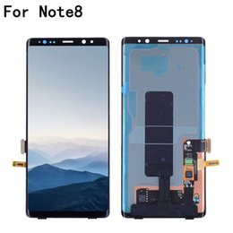 SamSung mobile lcd online shopping - Original Mobile Phone LCD Display Screen For Samsung Galaxy NOTE8 LCD N9500 N9500F Touch Panel Digitizer Assembly Frame Repalcement