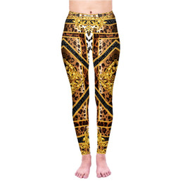Yoga Pant Pattern Free NZ - 2019 New 3D Digital Leopard Series Nine Pants Sports Leggings Running Fitness Yoga Pants In Europe and America