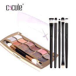 lip palette professional 2020 - Cocute Makeup Sets 2 PCS Including Professional Eye Makeup 12 Colors Eyeshadow Palette and Eye Lip Brush Cosmetics Tool