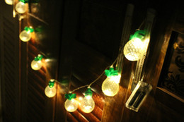 $enCountryForm.capitalKeyWord Australia - 1.5M  LED Vintage Bronze Color Pineapple LED Night Living Room Bedroom Decor LED String Lights for Xmas Party