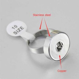 $enCountryForm.capitalKeyWord Australia - Size 7 8 9 10 Snap Button Rings Stainless Steel Band Copper Base DIY 12MM 18MM Ginger Snap Rings Jewelry