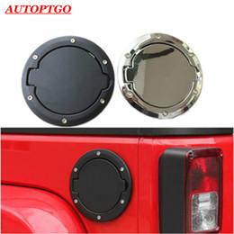 Ingrosso Olio Nero / Silver Car Fuel gas di riempimento del serbatoio di copertura Accessori Cap Kit per Jeep Wrangler JK 2007-2017
