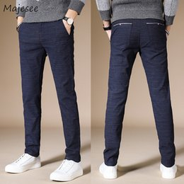 $enCountryForm.capitalKeyWord NZ - Pants Men Large Size Full Length Zipper Slim Leisure Pockets Pencil Pants for Winter Mens Korean Simple All-match Trousers Chic