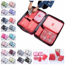 $enCountryForm.capitalKeyWord Australia - 7pcs travel storage bag Clothes Packing cubes travel Luggage Organizer Pouch with Shoe Bag travel suitcase accessories
