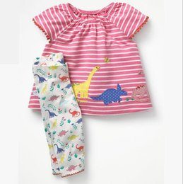 Wholesale baby kids clothing two piece sets Spring Summer Pure Cotton suit Stripe set