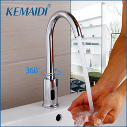 Faucet Kitchen Shower Australia - KEMAIDI Automatic Sensor Tap Infrared Sensor Water Saving Faucets Inductive Kitchen Bathroom Water Tap Cold Water Taps