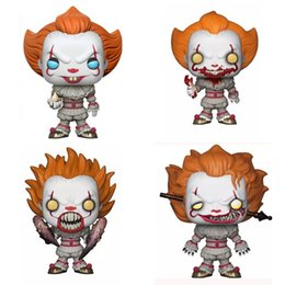 $enCountryForm.capitalKeyWord UK - FUNKO POP Model Toy It Vinyl Action Figure Pennywise Movie Figures Clown Dolls Ornaments Collection Of Fans 35bxb O1