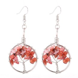 $enCountryForm.capitalKeyWord Australia - Exquisite Tree of Life Earrings Copper Dangle & Chandelier Life Tree Vintage Antique Female Earring Bead Women Natural Stone Crystal Jewelry