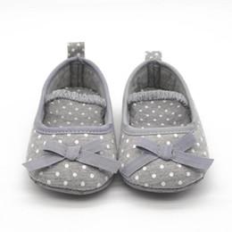 $enCountryForm.capitalKeyWord Australia - Baby Girl Shoes Princess Polka Dots Bowknot Soft Bottom Prewalker Toddler Crib Infant Little Kid Sole Anti-slip First Walker