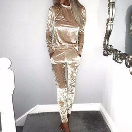 $enCountryForm.capitalKeyWord NZ - Women 3xl Two Piece Set Female Winter Tracksuit Velvet Hoodies Top + Pants Ladies Long Sleeve Outfit Femme Sporting Suits