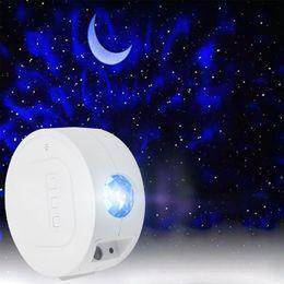 Cielo estrellado proyector de estrellas luz de luna luz de la noche del océano agita de luces luna estrellada de 6 colores iluminación de la lámpara de regalos de los niños para niños en venta