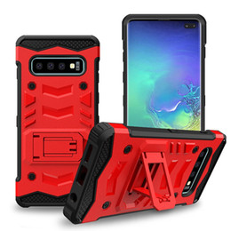 Wholesale Tough Armor Defender Hybrid Kickstand Rugged Case for Samsung Galaxy S8 Active Xcover S5 S6 S7 Edge Cover without Holster Belt Clip