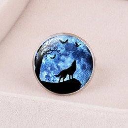 Leather Banded Ring Australia - Style14 new ` fashion accessories animal male wolf time gemstone opening adjustable children's ring crystal jewelry,