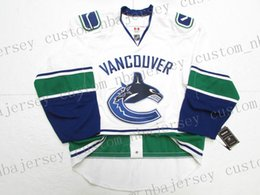 aae8cae968e Cheap custom VANCOUVER CANUCKS AWAY WHITE JERSEY stitch add any number any  name Mens Hockey Jersey XS-5XL