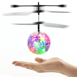 Helicopter Toys Australia - Kids Children Festival Gifts RC Drone Flying copter Ball Aircraft Helicopter Led Flashing Light Up Toys Induction Electric Toys With Package