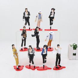 Vente en gros 11cm MICHAEL JACKSON FIGURES poupées POSE chiffres pvc Action Figure jouets modèle cadeau jouets