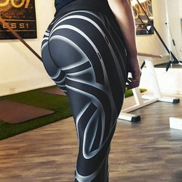 $enCountryForm.capitalKeyWord NZ - Sexy Shaping Hip Yoga Pants Women Fitness Tights Black White Striped Floral Prin Gym Running Leggings Training for Women Trouser