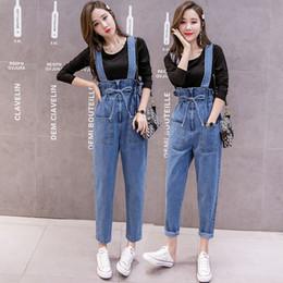 Fitted Denim Jumpsuit Australia - New Fashion Large Size Women Denim Jumpsuits Pants Slim Fit Cotton Denim Overalls for Women Casual Jumpsuit Rompers