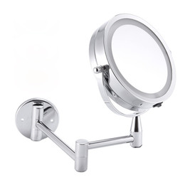 $enCountryForm.capitalKeyWord UK - Led Makeup Mirror Bath Mirror Wall Mounted Adjustable Makeup Mirrors Dual Arm Extend 2-Face Cosmetic Mirror with Light