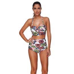 de042d95d14 2018 New Summer Women Solid Bikini set Swimwear female two pieces swimsuit  high Waist Bikini Women Bathing Suit biquini