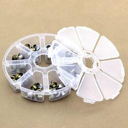Display Cases Beads Australia - hinestones & Decorations 8 Slots Storage Box Case For Nail Rhinestons Organizer Display Jewelry Bead Makeup Clear Round Rangement Maq...