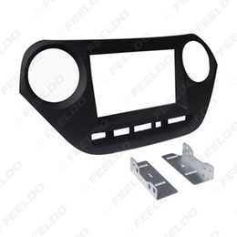 $enCountryForm.capitalKeyWord Australia - FEELDO Car 2Din Dash Radio Fascia Frame for HYUNDAI I-10 (RHD) CD DVD Panel Fitting Installation Face Plate Frame Trim Kit #4975