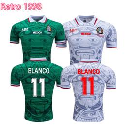 83c15b58590 S-XXL World Cup 1998 Retro Mexico Soccer Jerseys Zidane Henry Vintage  Futbol Camisa Football Mexican Camisetas Shirt Kit Maillot