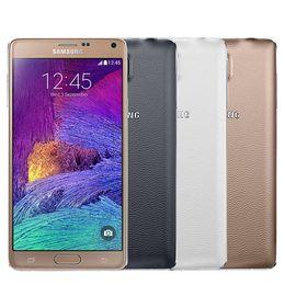 $enCountryForm.capitalKeyWord NZ - Samsung Galaxy Note4 Note 4 N910A N910F 4G LTE Cellphones 5.7 Inch 3G RAM 32G ROM Unlocked Original LCD