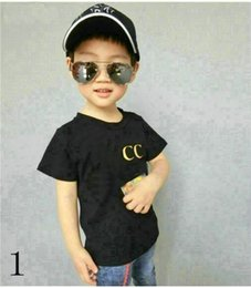Toddler fashion Tees online shopping - hot New Children T shirt for Boys Clothing Baby Boys Girls Summer Tops Tee Cotton Kids clothes BOX toddler playsuit COCO