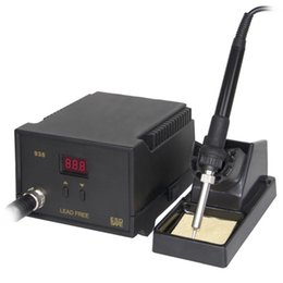 smd iron UK - Hot Electric Iron Soldering Station SMD Welders Welding with Stand Sponge ESD Anti-static D6