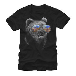 $enCountryForm.capitalKeyWord UK - Bear in Sunglasses Mens Graphic T Shirt Victorian Gentleman Cat Portrait Mens Graphic T Shirt Tees Custom Jersey t shirt