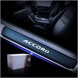 Sill Scuff protector online shopping - Car Door Sill Protector Scuff For Accord D Carbon Fiber Vinyl Sticker Door sill guard Interior Car Accessories