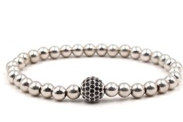 silver ball chain 8mm 2020 - 8mm hg2 gold silver ball bead micro pave cz zircon cubic zirconia Bracelet Chakra Macrame Charm Braided Copper Rope Bang