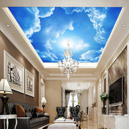 $enCountryForm.capitalKeyWord Australia - Modern 3D Photo Wallpaper Blue Sky And White Clouds Wall Papers Home Interior Decor Living Room Ceiling Lobby Mural Wallpaper arkadi