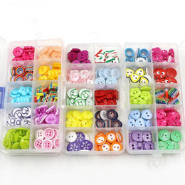 Handmade Suit Baby Australia - 10 boxes  lot Wholesale children's shirts handmade DIY candy buttons suit sweaters cartoon baby color buttons for clothing